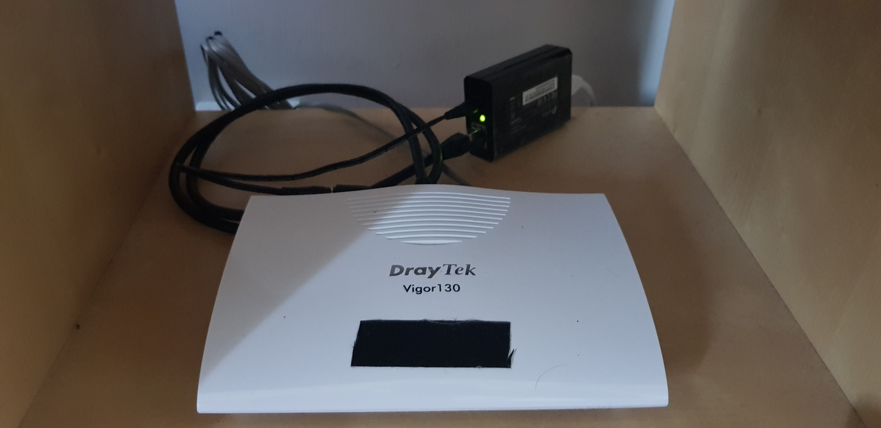 High-tech fucking-bright-LEDs avoidance system on the front of the DrayTek